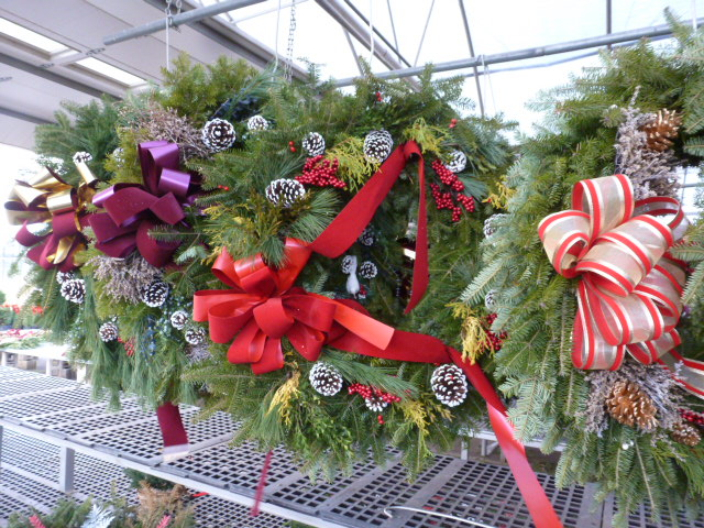 Wreaths and Evergreen Decorations