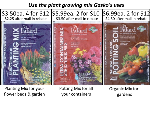 Discounted prices the soil Gasko uses