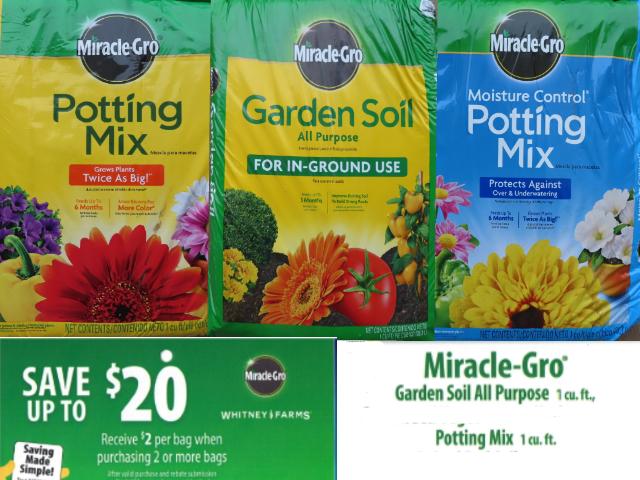 Miracle Gro Soil Sale!